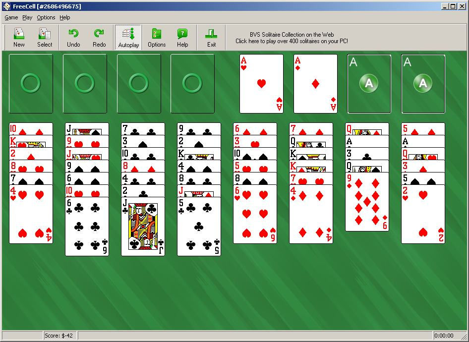 1st Free Solitaire - Subscribe newsletter